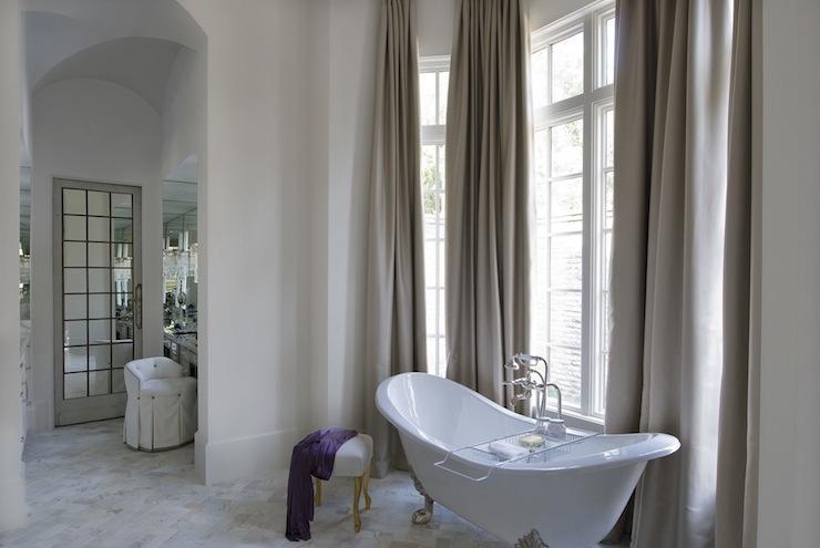 Bathroom with high Ceiling  Transitional Bathroom