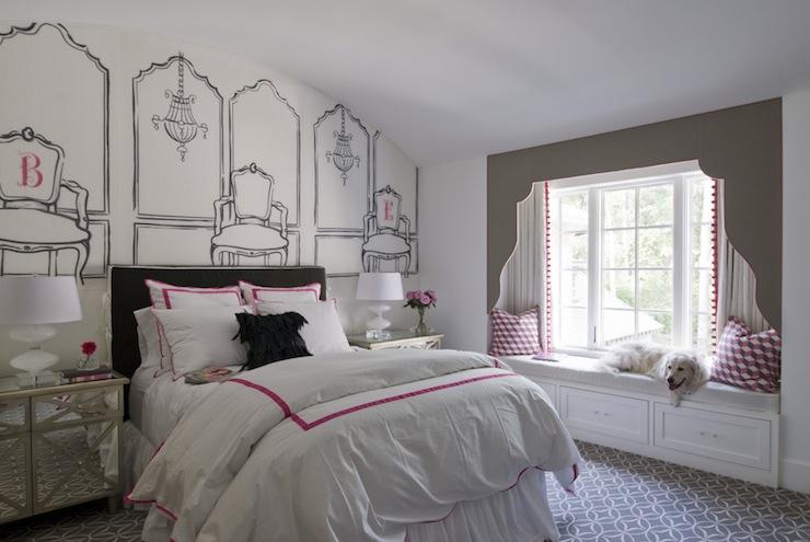 Wallpaper Border For Teenage Girl Kids Window Seat Girl S Room Thompson Custom Homes