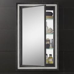 Full Size Mirror In Living Room Storage Side Tables Black Border Strand Mirrored Medicine Cabinet