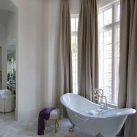 Mirrored Vanity Stool - Transitional - bathroom - The ...