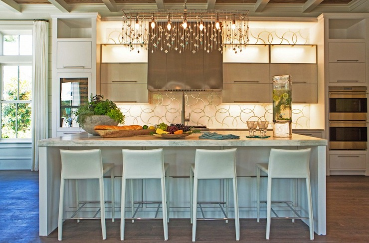 Linear Crystal Chandelier Contemporary Kitchen Pizitz Home And
