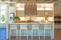 Linear Crystal Chandelier - Contemporary - kitchen ...