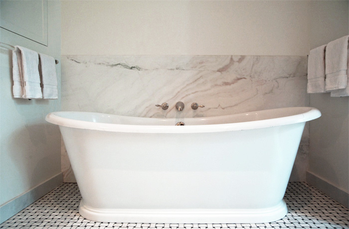 Wall Mounted Tub Filler  Transitional  bathroom