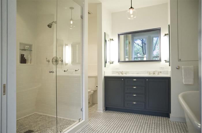 Charcoal Gray Vanity  Transitional  bathroom  Elizabeth