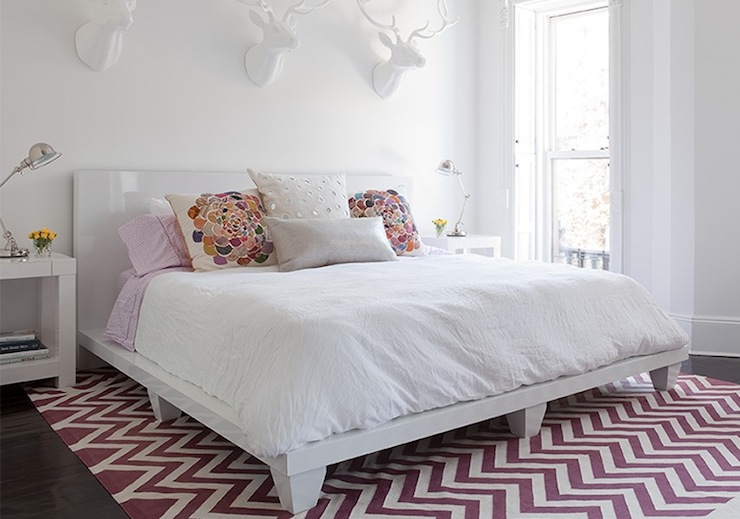 Purple Chevron Rug  Contemporary  bedroom  The Brooklyn