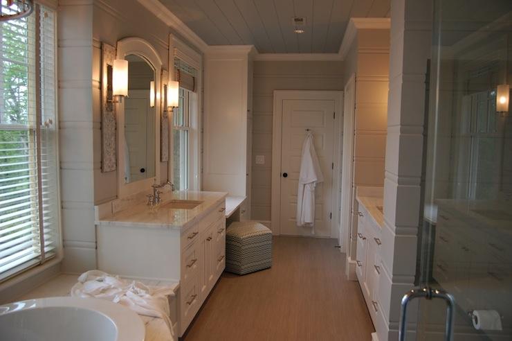 Alabama White Marble Countertops  Transitional  bathroom