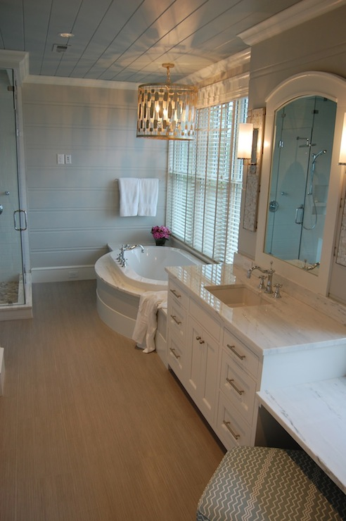 BuiltIn Make Up Vanity  Transitional  bathroom  Markay