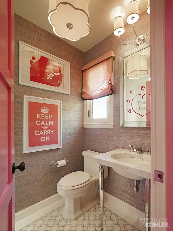 Pink And Gray Bathroom Contemporary Bathroom Kohler