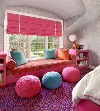 Kids Window Seat - Contemporary - girl's room - Suzanne Lovell