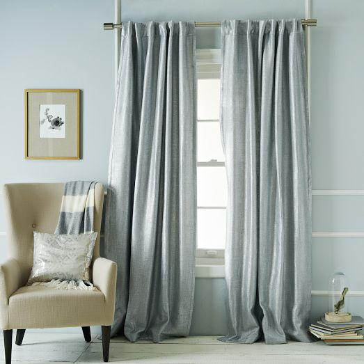 Window Treatments Light Gray Curtains