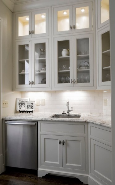butlers pantry kitchen cabinets Glass Front Butlers Pantry Cabinets Design Ideas