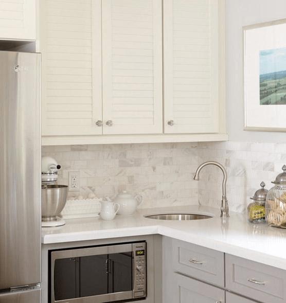 Corner Sink  Transitional  kitchen  Sarah Richardson Design