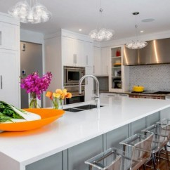 Undermount Kitchen Sink Renovation Los Angeles Acrylic Counter Stools - Contemporary ...