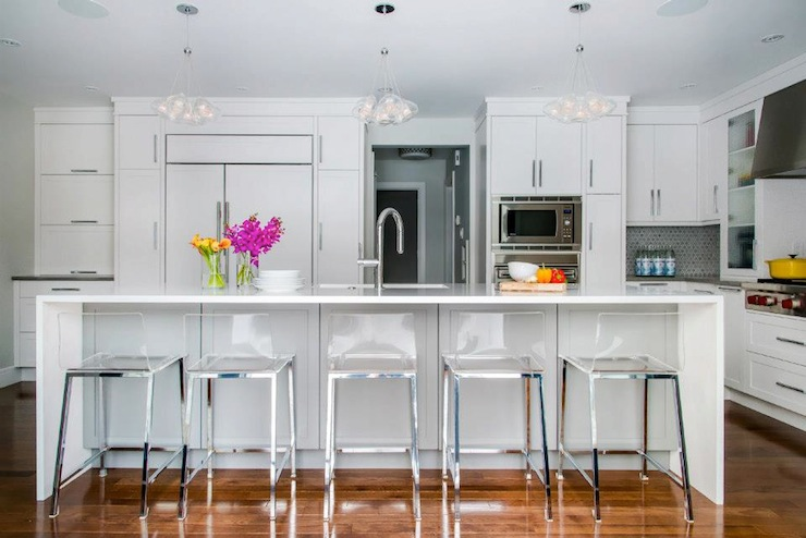 Acrylic Bar Stools  Contemporary  kitchen  Atmosphere