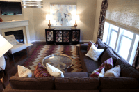 Purple and Brown Living Room - Contemporary - living room ...