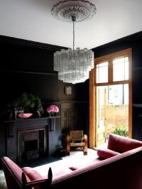 Pink and Black Living Room - Eclectic - living room ...