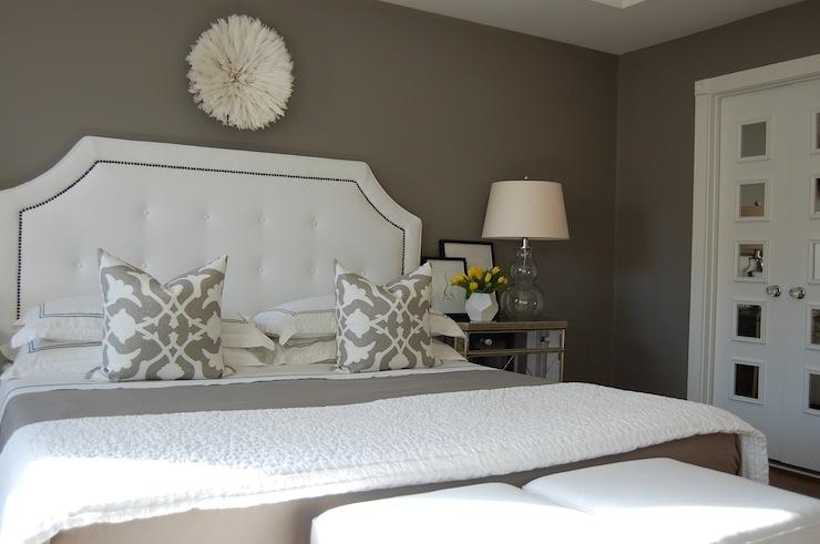 Gray Bedroom  Transitional  bedroom  Benjamin Moore Galveston Gray