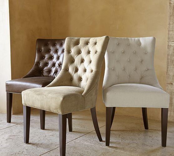 Uptown Leather Velvet Dining Chair Set of 2  Overstockcom