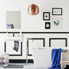 Tables For Small Kitchens Kitchen Kart Black And White Wainscoting - Contemporary Bathroom ...