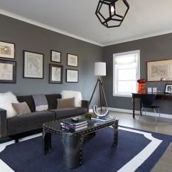 Navy Blue Striped Sofa Corner Ikea Ebay Gray And Living Room - Contemporary ...