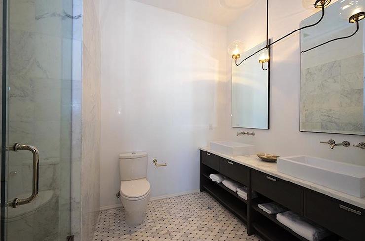 Antiqued Mirror  Contemporary  bathroom  Alys Beach