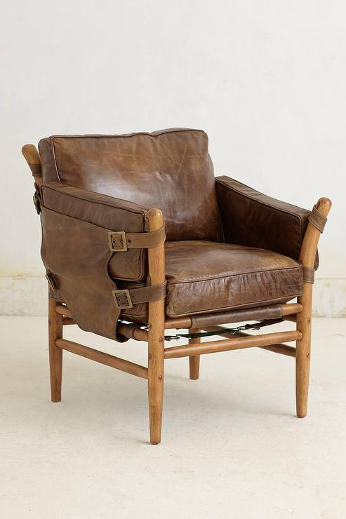 wood and leather chair swing kijiji patrizia brown frame
