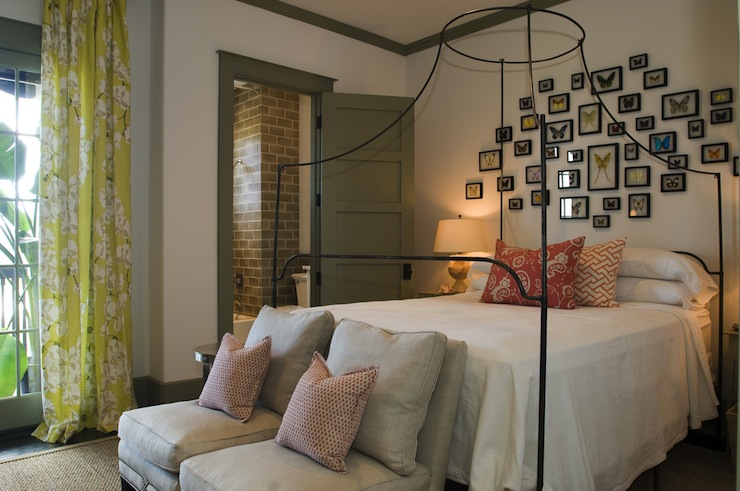 Italian Campaign Canopy Bed Eclectic Bedroom Alys Beach