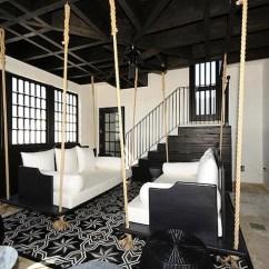 Swinging Chair Indoor Dorm Covers Diy Sofa - Eclectic Living Room Alys Beach