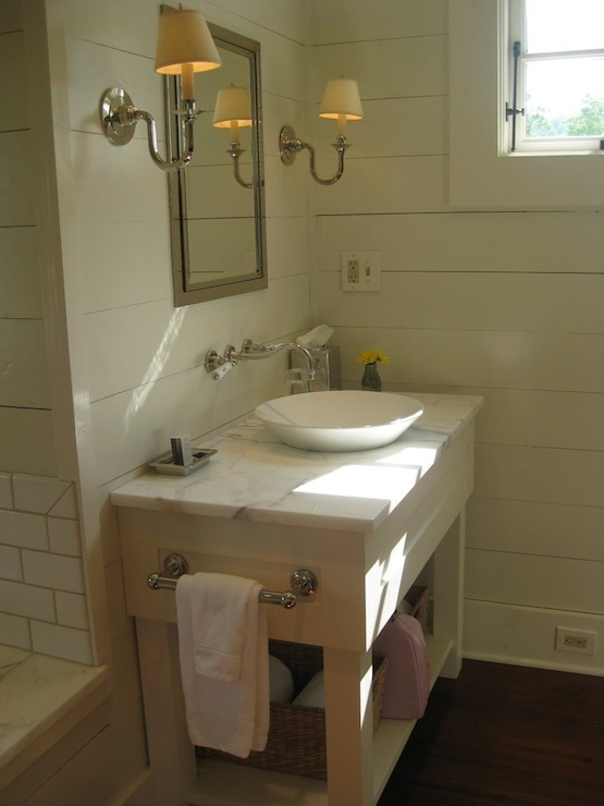 Bowl Vessel Sink  Cottage  bathroom  Blackberry Farms
