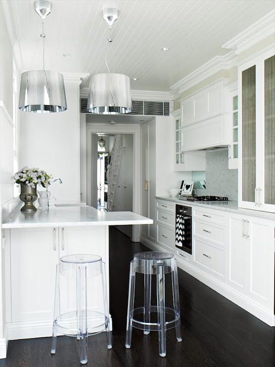 Ghost Bar Stools  Eclectic  kitchen  Oliver Interiors