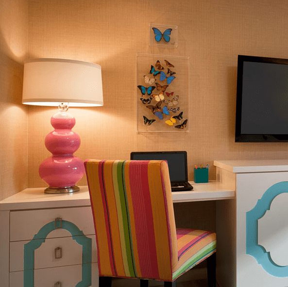Homework Room Contemporary Girls Room Berkley Vallone