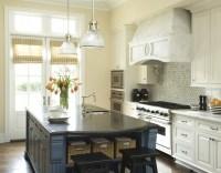 Blue Kitchen Island - Transitional - kitchen - Berkley Vallone