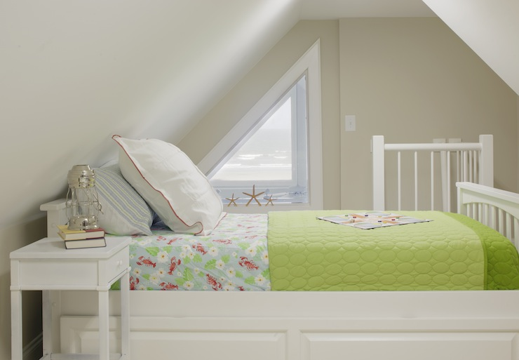 Bed Under Sloped Ceiling  Cottage  bedroom  Erin