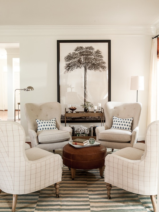 4 chairs in living room urban outfitters ideas circular furniture arrangement transitional lauren