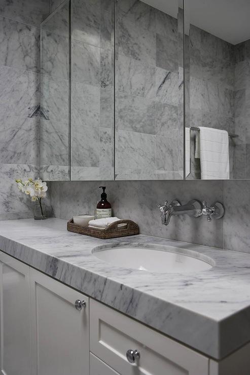 White Carrera Marble Design Ideas