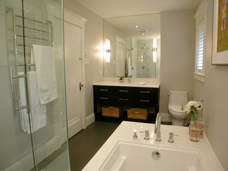 kitchen pantry shelves with glass cabinet doors interior design inspiration photos by qanuk interiors.