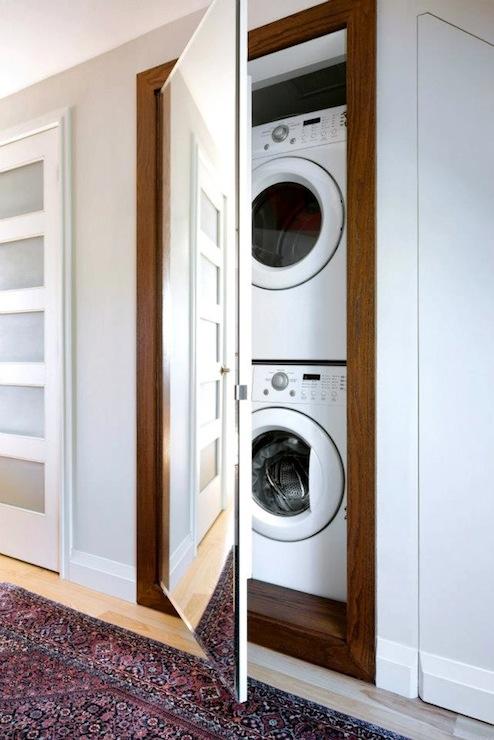 Hidden Laundry Room Transitional Laundry Room Qanuk