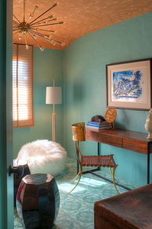 Turquoise Paint Colors  Eclectic  denlibraryoffice