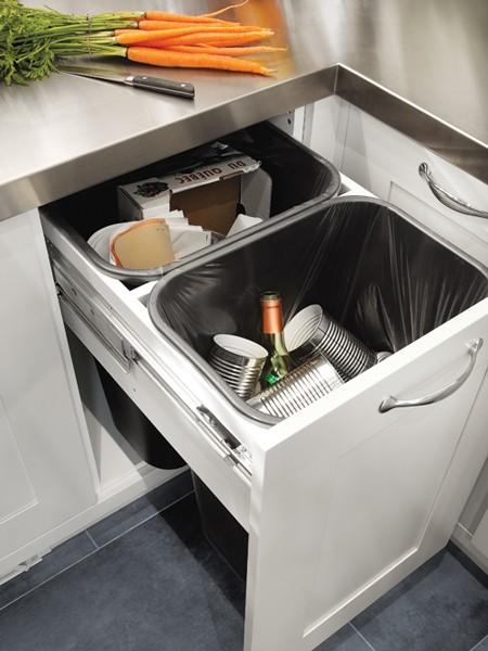 Hidden Waste Bins  Transitional  kitchen  House  Home