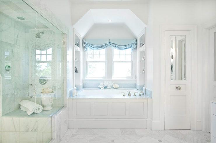 Blue Celeste Marble  Transitional  bathroom  Markay