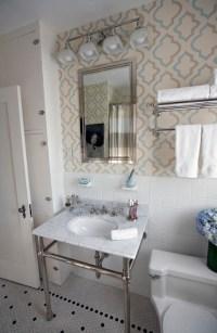 Moroccan Tile Wallpaper - Transitional - bathroom - Copper ...