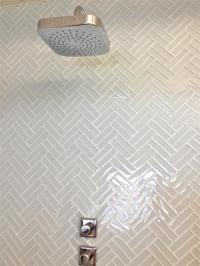 Glass Herringbone Tiles - Contemporary - bathroom - Mod Walls