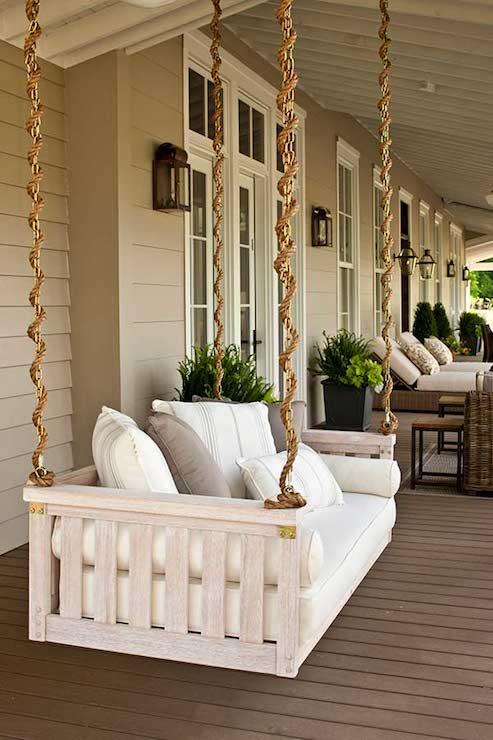 Porch Swing  Cottage  deckpatio  Sherwin Williams