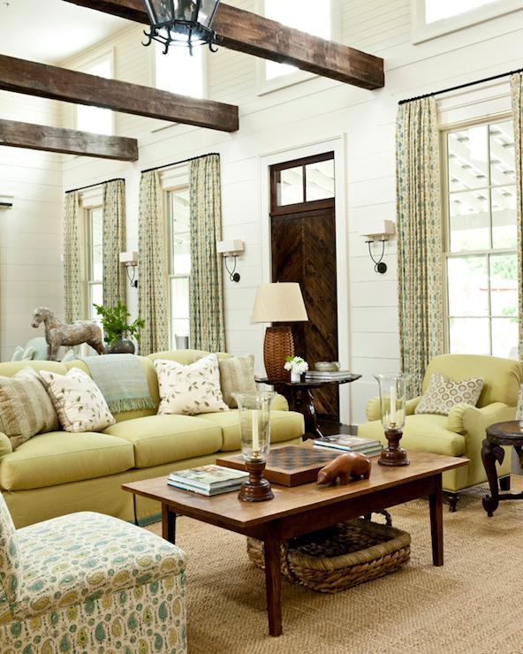 Long Living Room Cottage Living Room Sherwin