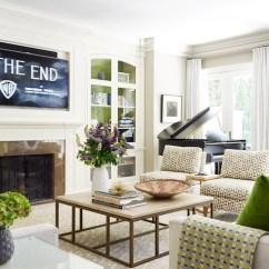 Living Room Design Ideas Tv Over Fireplace Roman Blinds Transitional Anne Hepfer Designs