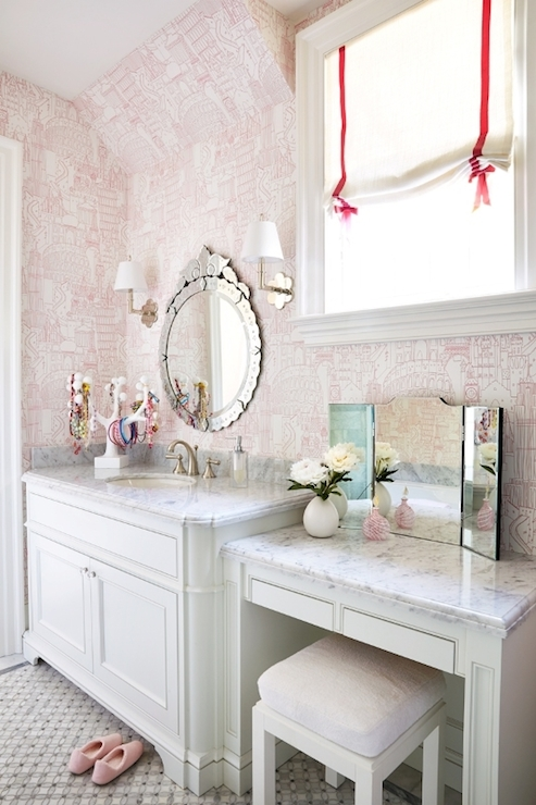 Girls Bathroom Ideas  Transitional  bathroom  Anne Hepfer Designs
