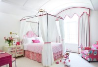 Princess Canopy Bed - Transitional - girl's room - Anne ...