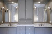 Gray Cabinets - Contemporary - bathroom - Benjamin Moore ...