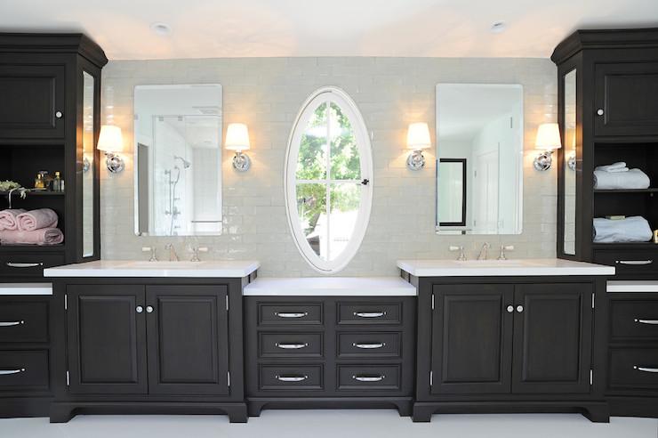 Black Vanity  Transitional  bathroom  Kelly Baron