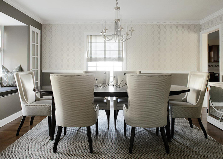 White And Gray Dining Room